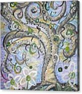 Curly Tree In Fantasy Land Acrylic Print