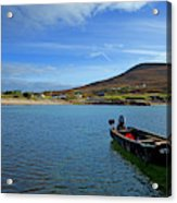 Curragh Moored At Dooega Village Acrylic Print