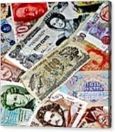 Currencies Acrylic Print