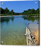 Current River Acrylic Print by Lena Wilhite