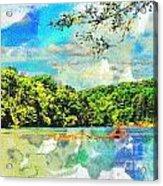 Current River Mo - Digital Paint II Acrylic Print