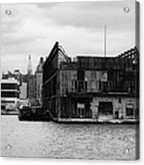 Currently Condemned Pier 64 On The Hudson River New York City Acrylic Print