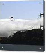 Currents Of Fog Flowing Through The Golden Gate Acrylic Print