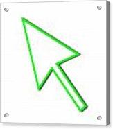 Cursor Arrow Mouse Green Line Acrylic Print