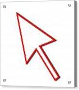 Cursor Arrow Mouse Red Line Acrylic Print