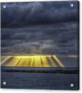 Curtain Sunrise At Orient Beach Acrylic Print