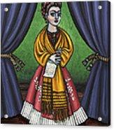 Curtains For Frida Acrylic Print
