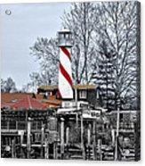 Curtin's Wharf Burlington New Jersey Acrylic Print