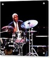 Curtis Boyd On Drums Acrylic Print