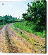 Curved Road Painting Acrylic Print