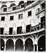 Curved Seville Spain Courtyard Acrylic Print