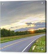 Curvy Road Sunset Acrylic Print