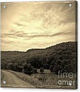 Curvy Road To Nowhere Acrylic Print by Garren Zanker