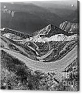 Curvy Roads Silk Trading Route Between China And India Acrylic Print