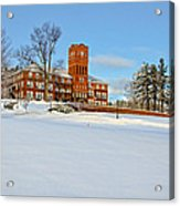 Cushing Academy In Winter Acrylic Print