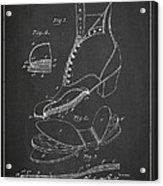 Cushion Insole For Shoes Patent Drawing From 1905 Acrylic Print