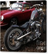 Custom Bike And Porsche Acrylic Print