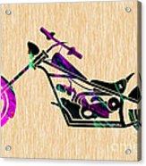 Custom Chopper Motorcycle Acrylic Print