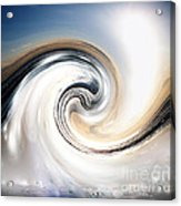 Custom Chrome Wave Acrylic Print by Jeffery Fagan