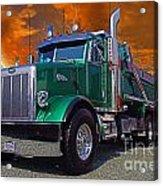 Custom Gravel Truck Catr0278-12 Acrylic Print