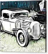 Custom Hot Rod Pickup Acrylic Print