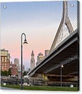 Custom House And Zakim Bridge Acrylic Print
