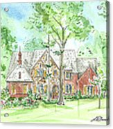 House Portrait Or Rendering Sample Acrylic Print