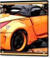 Custom Orange Sports Car Acrylic Print by Danielle  Parent