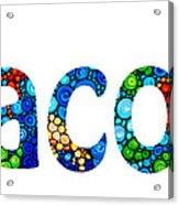 Customized Baby Kids Adults Pets Names - Jacob Name Acrylic Print