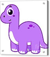 Cute Illustration Of A Brontosaurus Acrylic Print