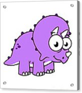 Cute Illustration Of A Triceratops Acrylic Print