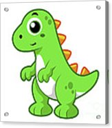 Cute Illustration Of Tyrannosaurus Rex Acrylic Print