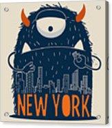 Cute Monster Vector Character Design Acrylic Print