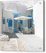 Cute Santorini Island Hause  Acrylic Print