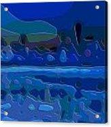 Cutout Art Blue Landscape Acrylic Print