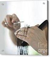 Cutting Hair Acrylic Print