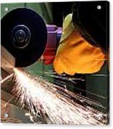 Cutting Steel Acrylic Print