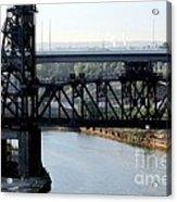 Cuyahoga River Cleveland Flats Acrylic Print