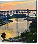 Cuyahoga River Cleveland Ohio Acrylic Print