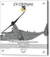 Cv-22b Osprey 20th Sos Acrylic Print by Arthur Eggers