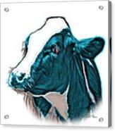Cyan Cow Holstein - 0034 Fs Acrylic Print