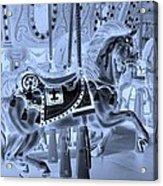 Cyan Horse Acrylic Print