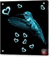 Cyan Hummingbird - 2055 F M Acrylic Print