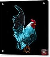 Cyan Rooster Pop Art - 4602 - Bb - James Ahn Acrylic Print