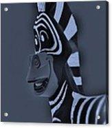 Bluegray Zebra Acrylic Print