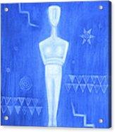 Cycladic Goddess - Middle Panel Acrylic Print