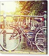 Cycle In Sun Acrylic Print