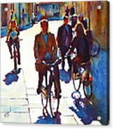 Cycling In The City Acrylic Print