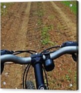 Cycling In The Country Acrylic Print