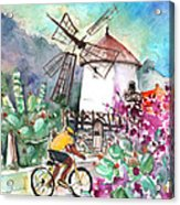 Cycling In The Mountains Of Gran Canaria Acrylic Print